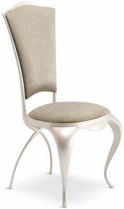Ghirigori gepolsterter Stuhl, Eleganter Esstischstuhl gepolstert