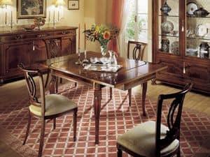 GRANDUCATO / Stuhl, Klassischer Stuhl aus Holz für Esszimmer