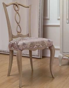 Live 3 Stuhl, Klassischen Stil Stuhl aus Holz mit gepolstertem Sitz, für Esszimmer