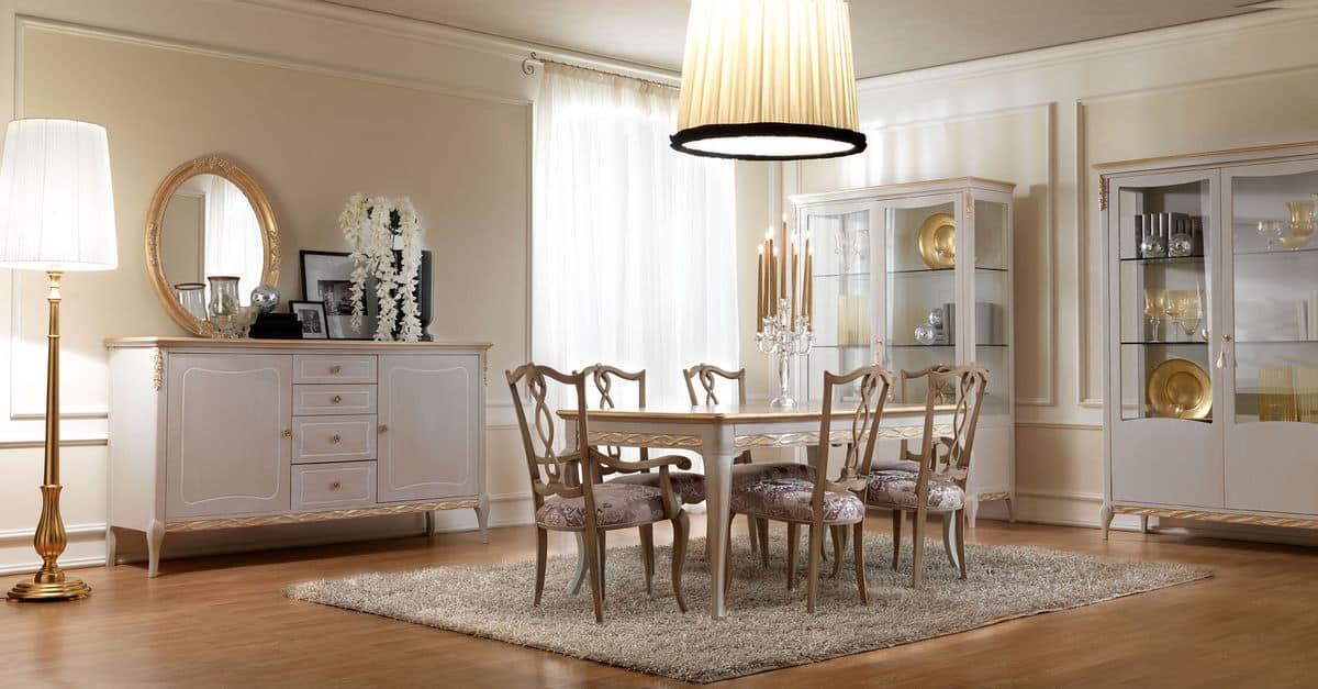 klassischen stil stuhl aus holz mit gepolstertem sitz f r esszimmer idfdesign. Black Bedroom Furniture Sets. Home Design Ideas