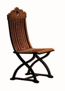 Orbetello ME.0977, Nussbaum Intarsien Stuhl, für den klassischen Salons