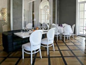 Rotondo, Gepolsterte klassischer Stuhl, für Luxus-Restaurants und Restaurants