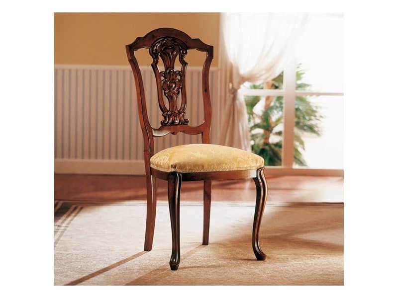 ROYAL NOCE / Stuhl, Holzstuhl mit gepolstertem Sitz f�r Esszimmer