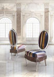SB/3215/S, Klassischer Luxus Stuhl mit gepolstertem Sitz und Rücken