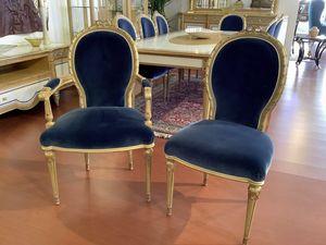 Stuhl 1445 Louis XVI Stil, Klassischer Esszimmerstuhl