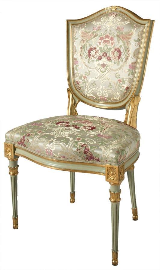 polsterstuhl im venezianischen stil vergoldet und lackiert idfdesign. Black Bedroom Furniture Sets. Home Design Ideas