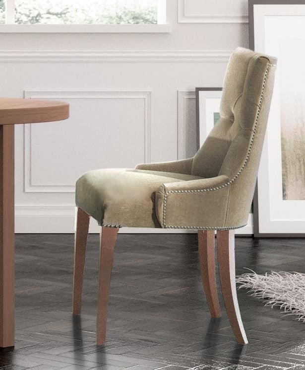 Luxury klassischen stuhl gesteppt f r camera hotel for Poltroncine per tavolo da pranzo