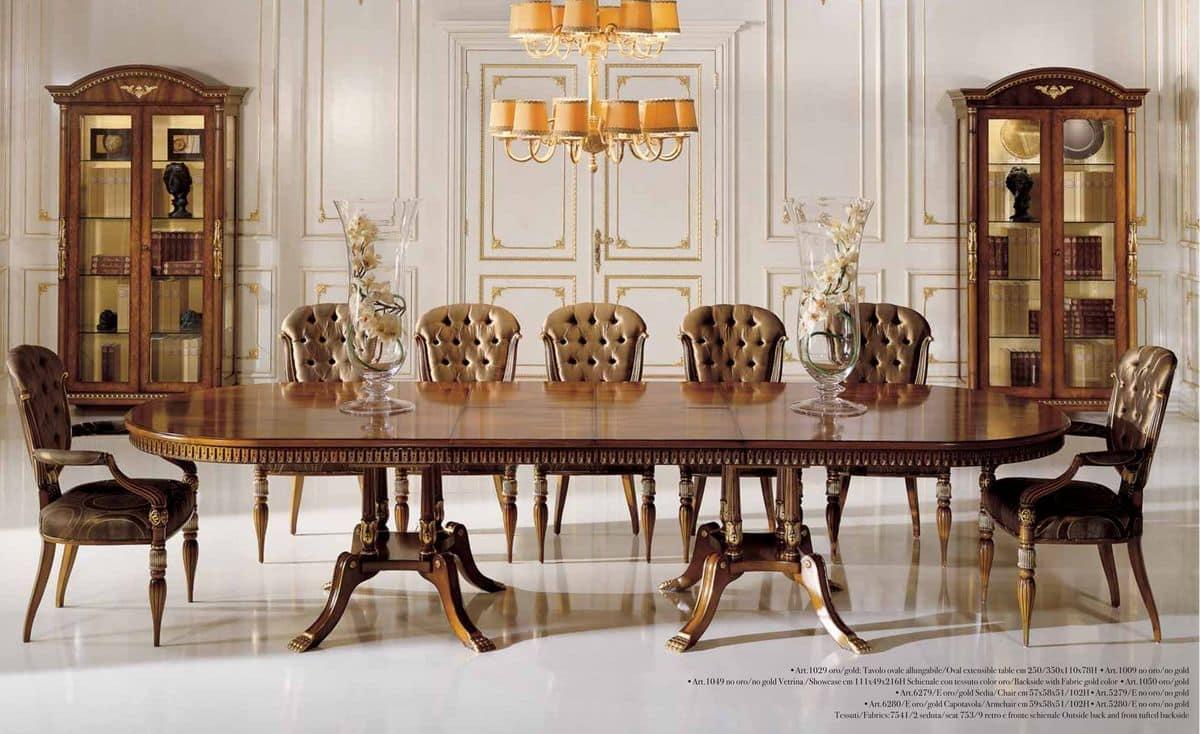 ausziehtisch nussbaum und esche maser furniert f r zeitgen ssische zimmer idfdesign. Black Bedroom Furniture Sets. Home Design Ideas