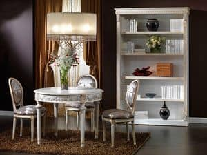 3415 TABLE, Rundtisch im Stil Louis XV, handgeschnitzt