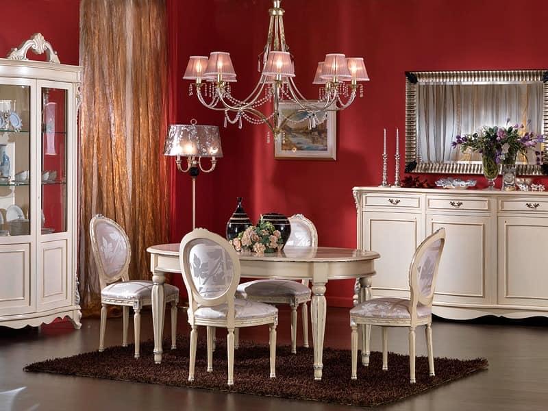 feste ovalen tisch lackiert f r klassische aufenthalte idfdesign. Black Bedroom Furniture Sets. Home Design Ideas