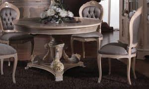 3640 TABLE, Intarsien Tisch mit runder Platte geeignet für die Gaststätten