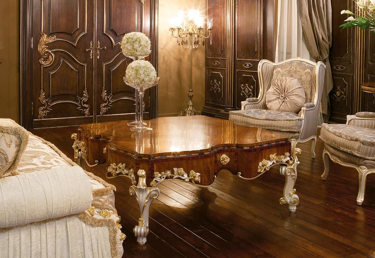 luxus couchtisch oben aus olivenholz klassischen stil. Black Bedroom Furniture Sets. Home Design Ideas