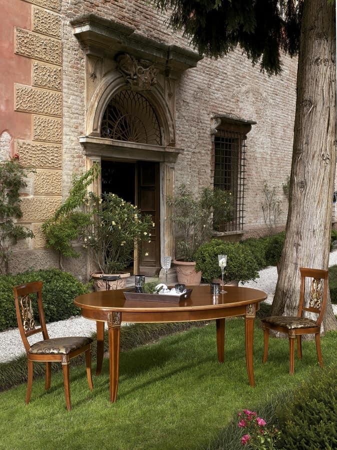 erweiterbare ovalen tisch f r restaurants und hotels idfdesign. Black Bedroom Furniture Sets. Home Design Ideas