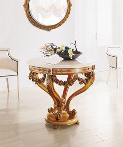 Art. 185, Runder Tisch mit Marmorplatte