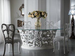 Art. 3051, Herrlicher Esstisch mit Glasplatte