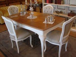 Art. 797, Tabelle mit eingelegtem Eichenholzplatte, für die klassische Küche