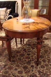 Art. 802, Klassische ovalen Tisch für Küchen geeignet, erweiterbar