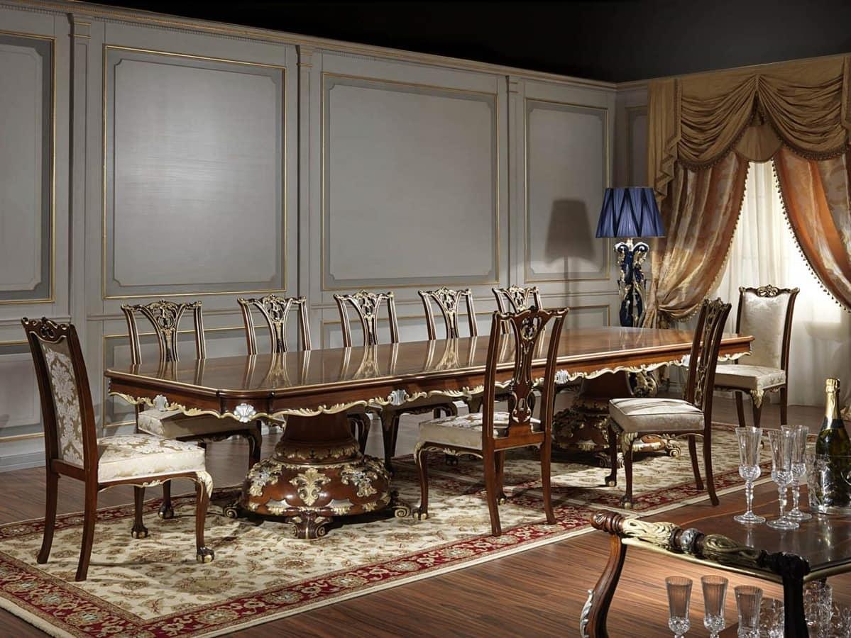 Majestic Tisch für Esszimmer, im Stil Louis XV | IDFdesign