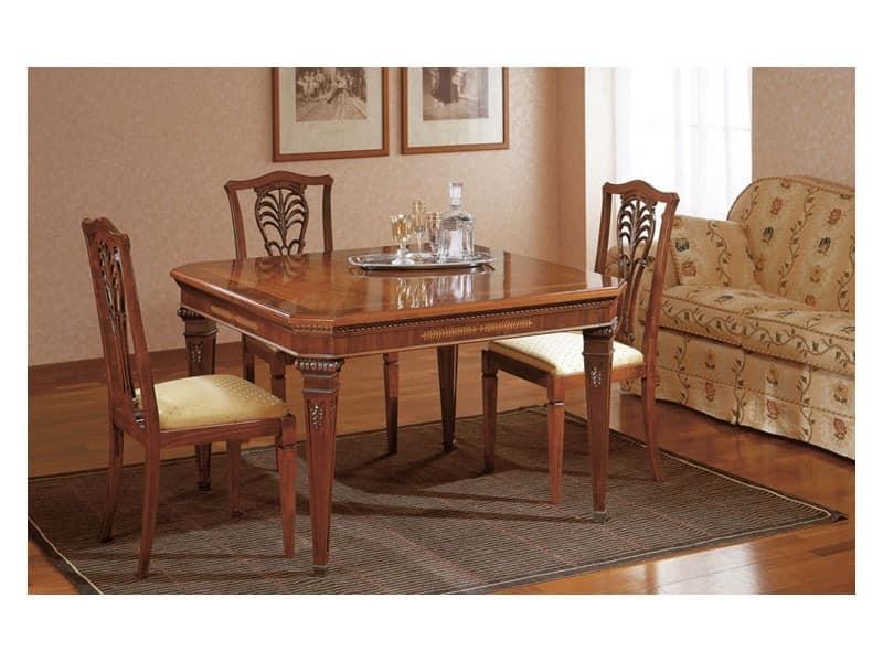 klassischen stil esstische mit erweiterungen f r. Black Bedroom Furniture Sets. Home Design Ideas