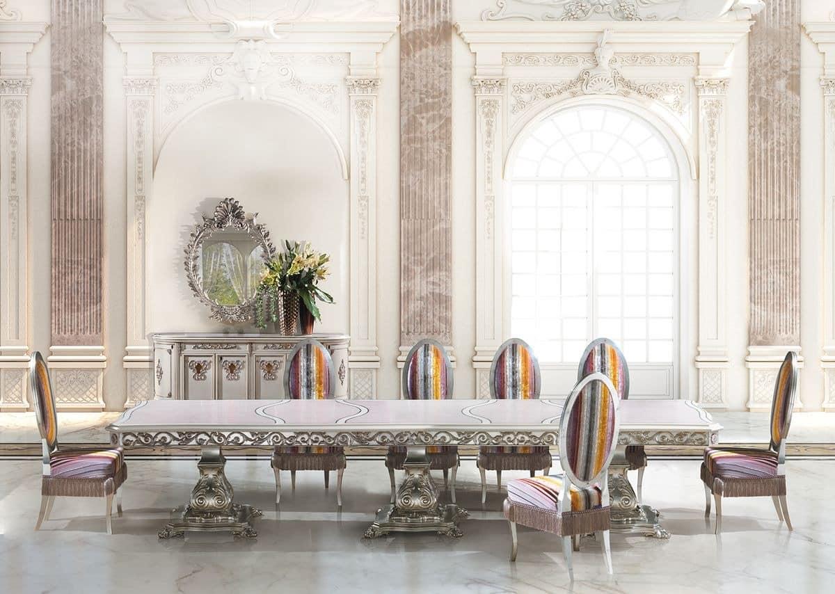 langen rechteckigen tisch f r klassische esszimmer. Black Bedroom Furniture Sets. Home Design Ideas