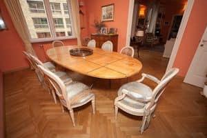 Cedar Tisch, Tisch klassische Zedernduft, mit Einsätzen in Nussbaum