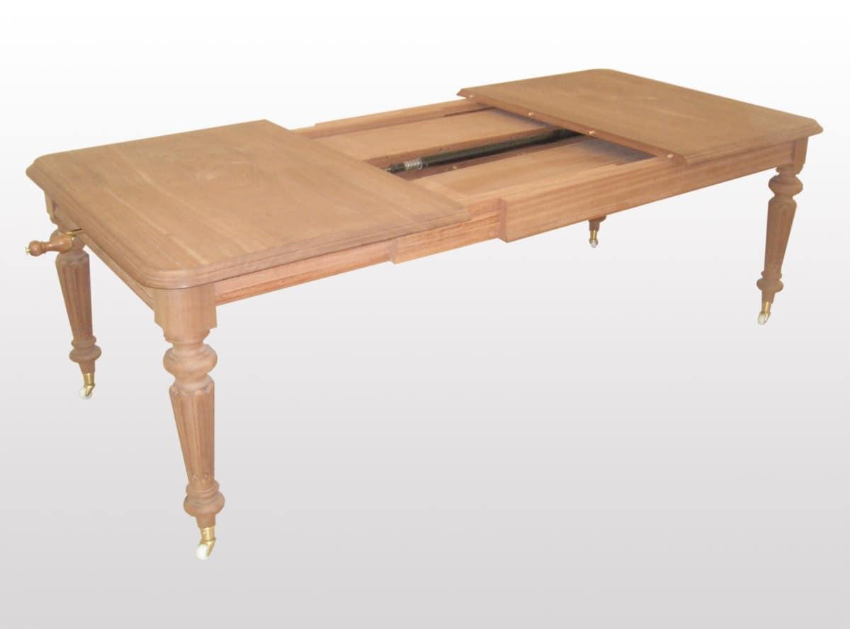 klassische erweiterbar rechteckigen tisch gedrechselten beinen idfdesign. Black Bedroom Furniture Sets. Home Design Ideas