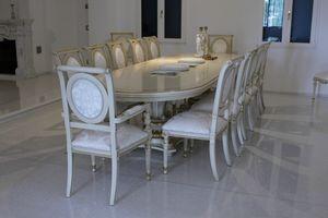 Eolo, Ovalen Tisch ideal für Tagungsräume und Konferenzräume