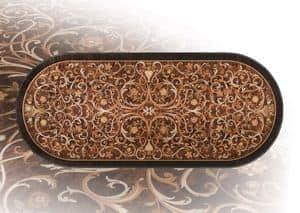 F981/A , Esstisch aus Massivholz, für Luxus-Hotelsuite