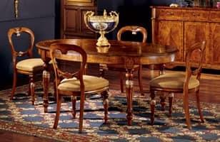 Ferrara table 743, Oval Esstisch mit Erweiterungen