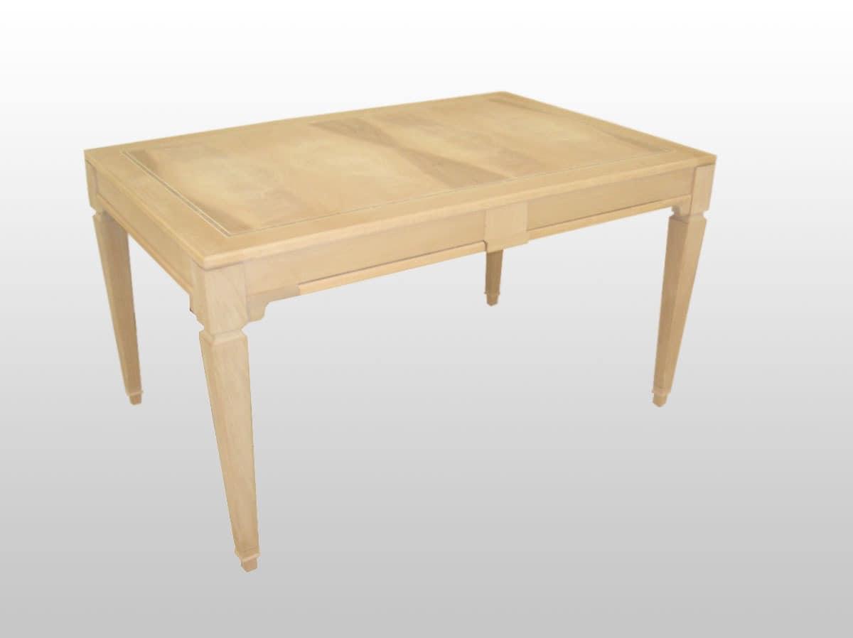 ausziehbarer tisch aus holz furniert nussbaum idfdesign. Black Bedroom Furniture Sets. Home Design Ideas
