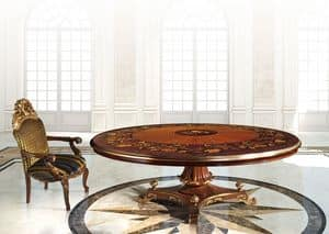 Hermitage ML/051/R, Klassischer Tisch mit runder Spitze