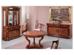 IMPERO / Round adjustable table, Rund ausziehbaren Tisch aus massivem Holz