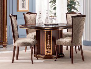 Modigliani Quadratischer Tisch, Quadratischer Esstisch im Empire-Stil