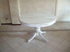 Mr. Burke, Ausziehbarer Tisch mit runder Platte, klassischen Stil