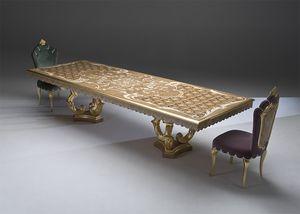 Palazzo PL212, Klassischer Tisch mit Inlay-Oberteil