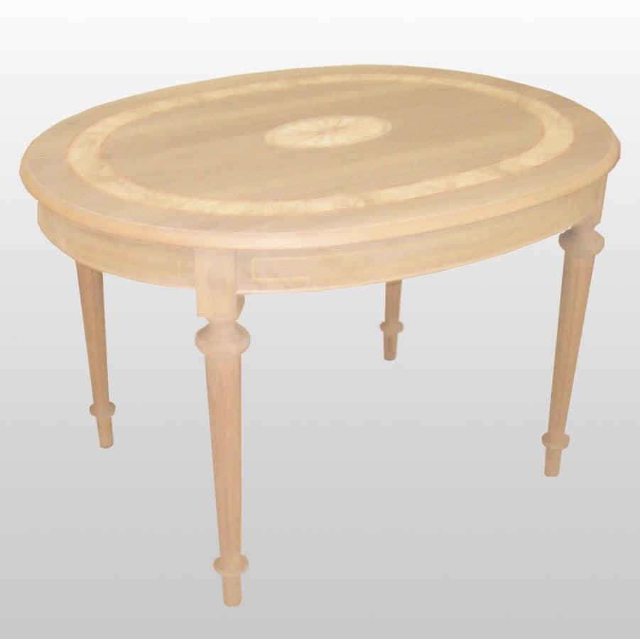 ovalen tisch mit verl ngerungen klassischen luxus idfdesign. Black Bedroom Furniture Sets. Home Design Ideas