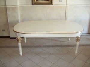 Philippe, Erweiterbar ovalen Tisch für klassische Speisesäle
