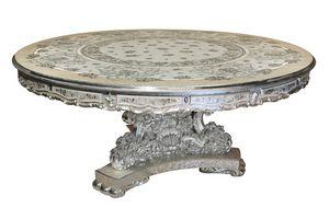 Scent of flowers Tisch, Runder Tisch mit raffinierten Barock-Intarsien