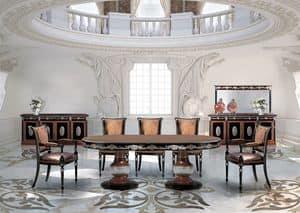 SivigliaVip, Oval Esstisch im klassischen Luxus-Stil
