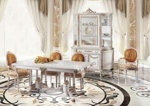 Sky M/111084, Luxuriöse Tisch mit klassischen Linien, handgeschnitzt