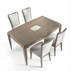 ST 312, Ash Tisch mit Einsatz an der Spitze, im klassischen Stil