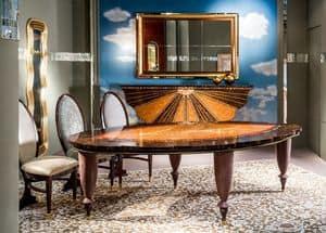 TA59, Klassischer Tisch mit blattförmigen Spitze