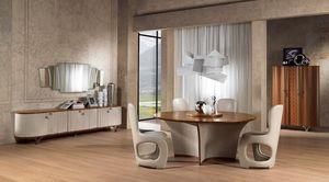TA60 Desyo, Runder Tisch für klassische Esszimmer geeignet