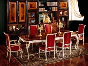 Tabelle anzeigen 829, Esstisch aus Holz, klassischen Stil Luxus gemacht