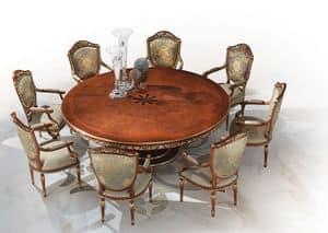 Tenerife, Runder Tisch mit eingelegten top, handverzierte