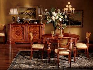 Venezia table 782, Runder Tisch für Esszimmer