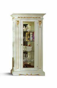 1463LQ, Klassischer Vitrinenschrank mit einer Tür