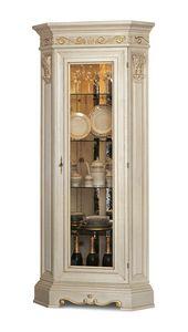 4014, Klassischer Eckvitrine aus Holz