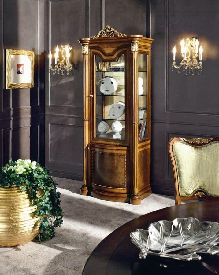 klassischer luxus vitrine mit 1 tür zum wohnzimmer   idfdesign, Hause ideen