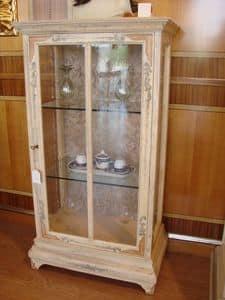 Art. 510, Vitrine mit 1 Tür, Kupfer Fenster, für das Wohnzimmer